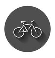 bike silhouette icon bicycle in flat style icons vector image vector image