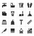 Black Bathroom and Personal Care icons vector image