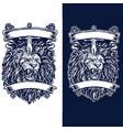 border lion sword vector image