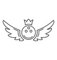 bowling king emblem icon outline style vector image