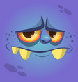 cartoon cute monster face avatar vector image