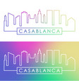 casablanca skyline colorful linear style vector image vector image