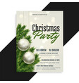 christmas party cover flyer template design vector image