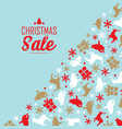 christmas sale decorative poster vector image