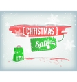 Christmass inky banner vector image