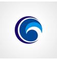 circle twist technology logo vector image vector image