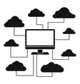 cloud technologies for business vector image