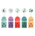Colorful collection of garbage bins Recycle vector image