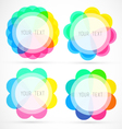 Colorful Editable Geometrical Circles vector image vector image
