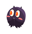 cute funny cartoon halloween bat character vector image vector image