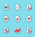 Document icons icon set in flat design style For vector image