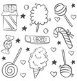doodle of candy hand draw style vector image vector image