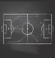 drawn with chalk the football pitch vector image vector image