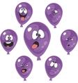 Emotion violet balloon set 005 vector image vector image