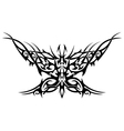 flaming butterfly vector image vector image