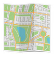 folded city map vector image