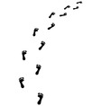 footsteps turn right vector image vector image