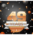 Forty nine years anniversary celebration vector image vector image