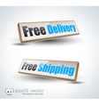 free delivery panels vector image
