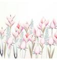 gentle pink crocus flowers spring vector image vector image
