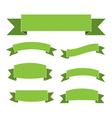 Green ribbon banners set vector image vector image