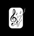 guitar music logo vector image