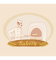 hand drawn of baker vector image vector image