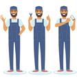 handyman character set vector image