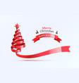 happy new 2021 year red ribbon tree holiday vector image vector image