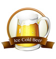 Ice cold beer vector image