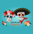 invitation poster to the day of the dead party vector image