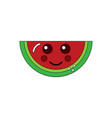 kawaii watermelon fruit character cute funny vector image
