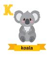 Koala K letter Cute children animal alphabet in vector image vector image
