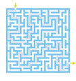 labyrinth maze game with solution vector image
