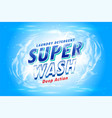 laundry detergent packaging concept for super vector image