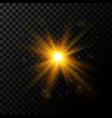 light burst golden light with sparkles vector image vector image