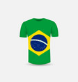 mens t-shirt icon and brazil flag vector image vector image