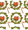 merry christmas coffee or tea warm beverage vector image vector image