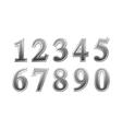 Metal number vector image