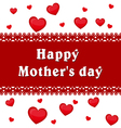 Mothers day Background of hearts Inscription vector image
