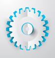Paper Cut Cog - Gear vector image
