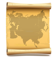 Paper Scroll with Eurasia vector image vector image
