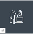 reception related line icon vector image