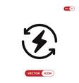 renewable energy icon vector image vector image