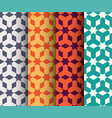 set of islamic geometrical pattern vector image vector image