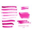 set of magenta watercolor stripes vector image vector image