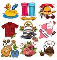 set of of summer vacation resort sale of summer vector image vector image