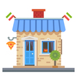 Shop building vector image