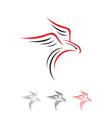 simple inspiring eagle falcon bird shillouette vector image vector image