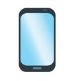 simple smart phone picture cell phone flat icon vector image